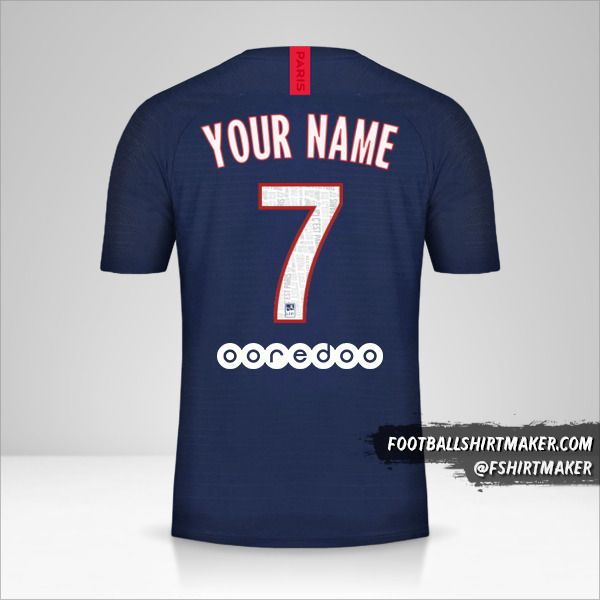 Paris Saint Germain 2019/20 shirt number 7 your name