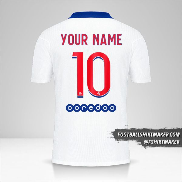 Paris Saint Germain 2020/21 II shirt number 10 your name
