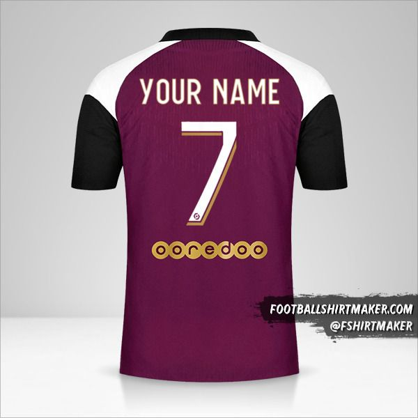 Paris Saint Germain 2020/21 III shirt number 7 your name