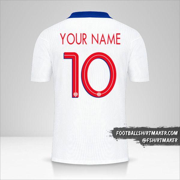Paris Saint Germain 2020/21 Cup II shirt number 10 your name