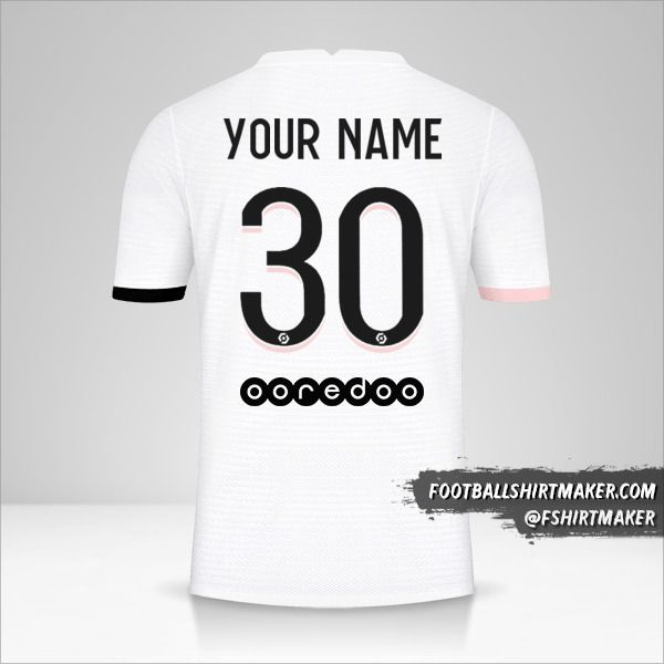 Paris Saint Germain 2021/2022 II shirt number 30 your name