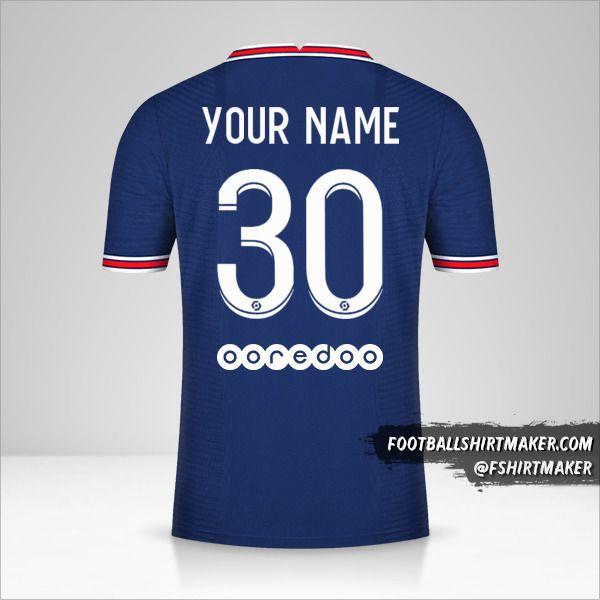 Paris Saint Germain 2021/2022 shirt number 30 your name