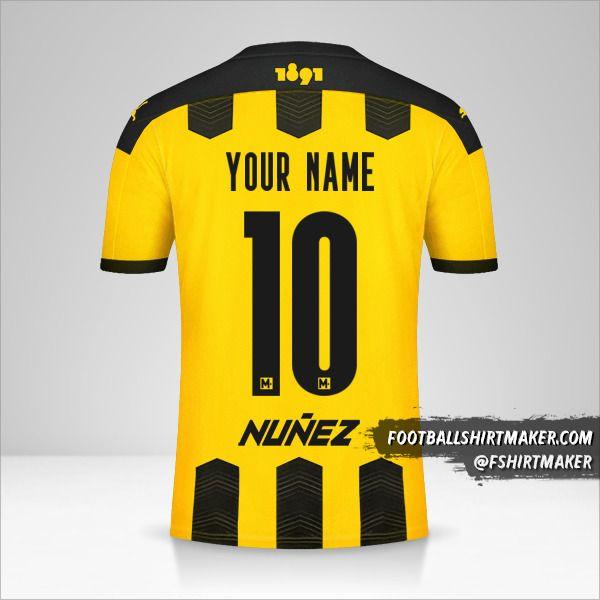 Peñarol 2021 shirt number 10 your name