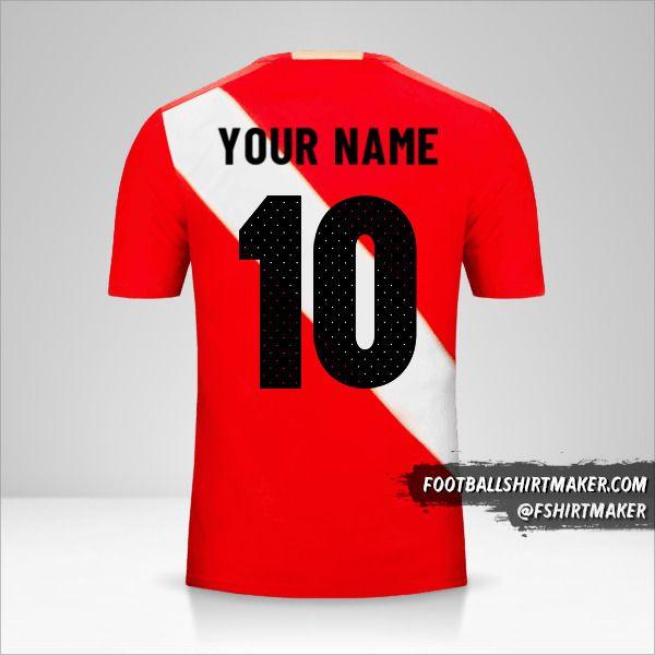 Peru 2018 II shirt number 10 your name