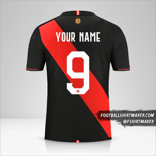 Peru Copa América 2019 II shirt number 9 your name