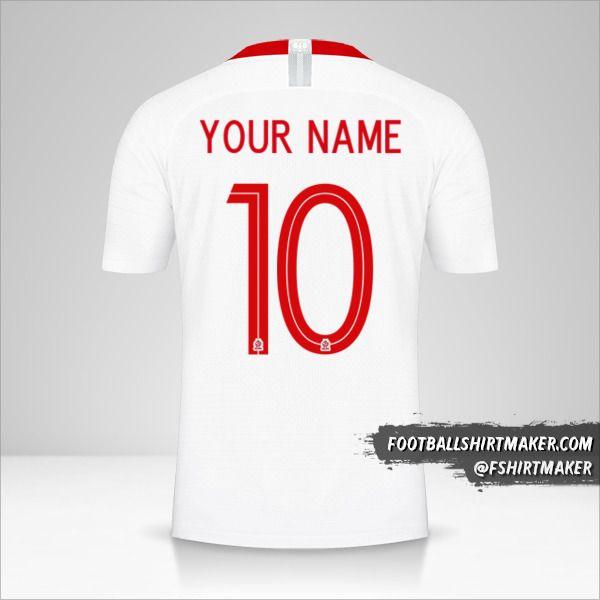 Poland 2018 shirt number 10 your name