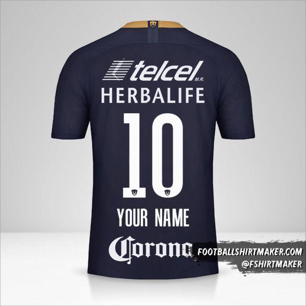 Pumas UNAM 2018/19 III shirt number 10 your name
