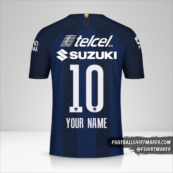Pumas UNAM 2019/20 II shirt number 10 your name