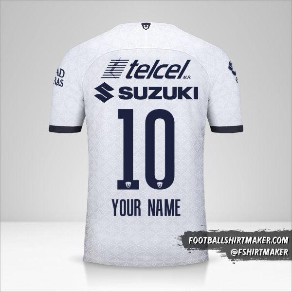 Pumas UNAM 2019/20 shirt number 10 your name