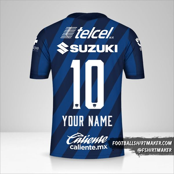 Pumas UNAM 2020/21 II shirt number 10 your name