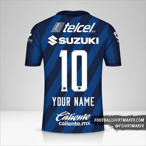 Pumas UNAM 2020/21 II shirt number 10 your name