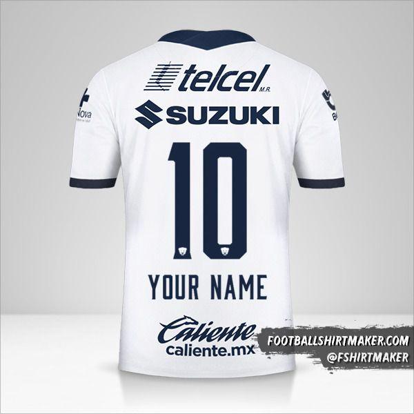 Pumas UNAM 2020/21 shirt number 10 your name