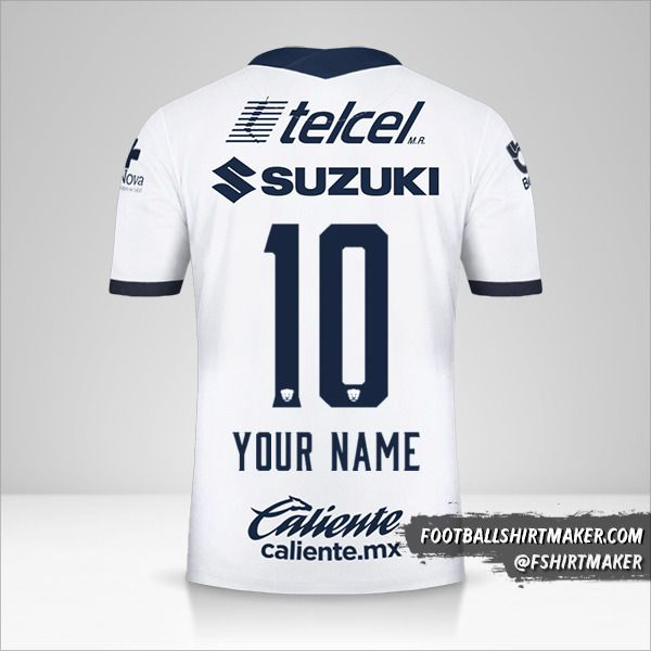 Pumas UNAM 2020/21 shirt number 10 your name