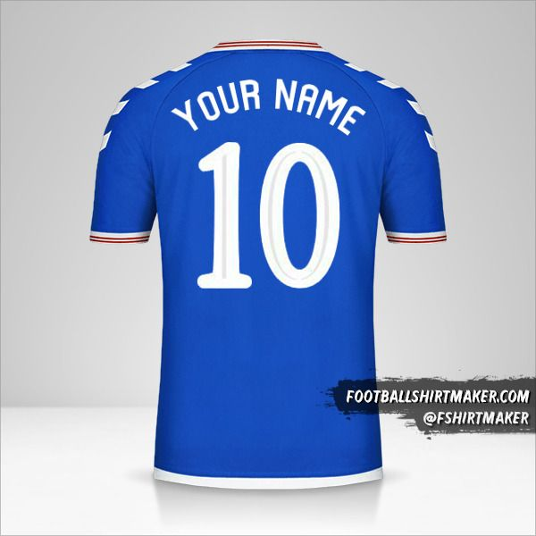 Rangers FC 2019/20 Cup shirt number 10 your name