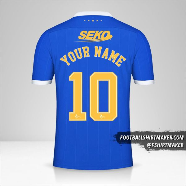Rangers FC 2021/2022 shirt number 10 your name