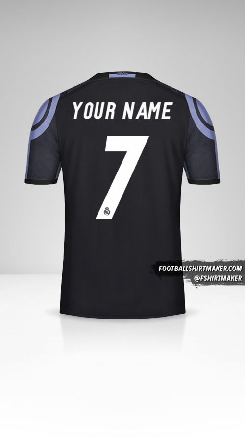 Real Madrid CF 2016/17 III shirt number 7 your name