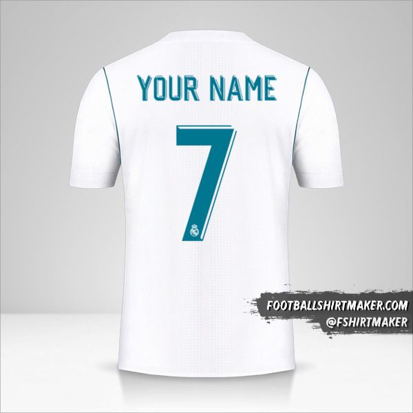 Real Madrid CF 2017/18 Cup shirt number 7 your name