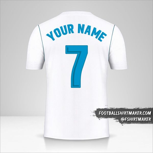 Real Madrid CF 2017/18 shirt number 7 your name