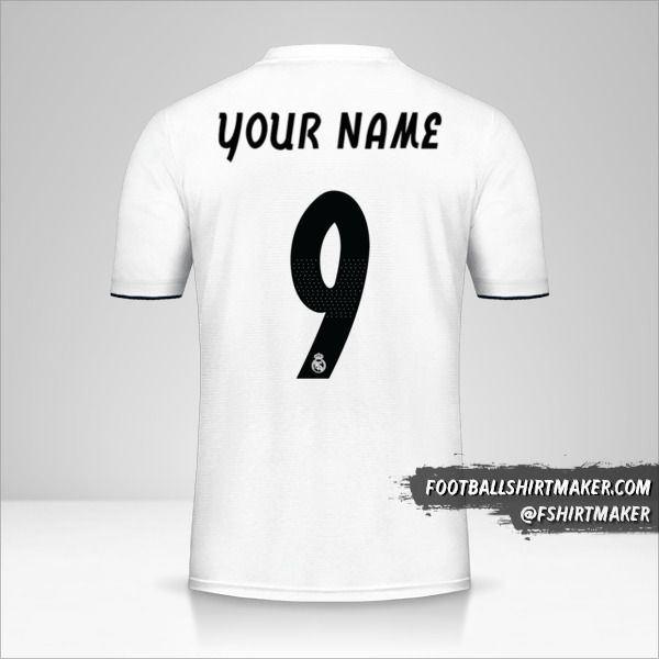 Real Madrid CF 2018/19 Cup shirt number 9 your name