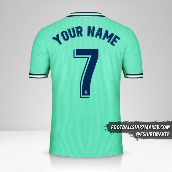 Real Madrid CF shirt 2019/20 III number 7 your name