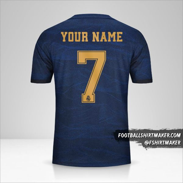 Real Madrid CF 2019/20 Cup II  shirt number 7 your name