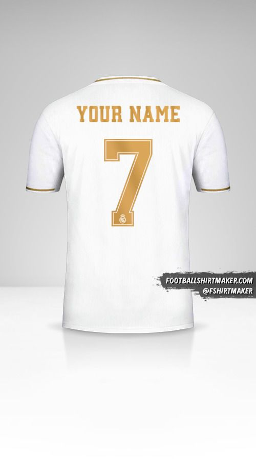 Real Madrid CF 2019/20 Cup shirt number 7 your name