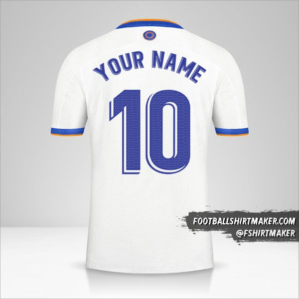 Real Madrid CF 2021/2022 shirt number 10 your name