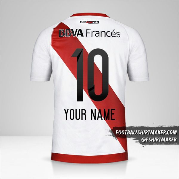 River Plate 2016/17 shirt number 10 your name