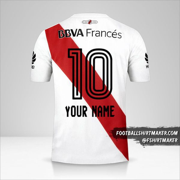 River Plate 2017/18 shirt number 10 your name