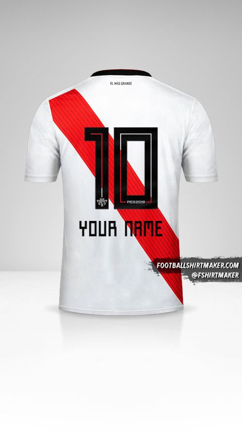 River Plate 2018/19 shirt number 10 your name