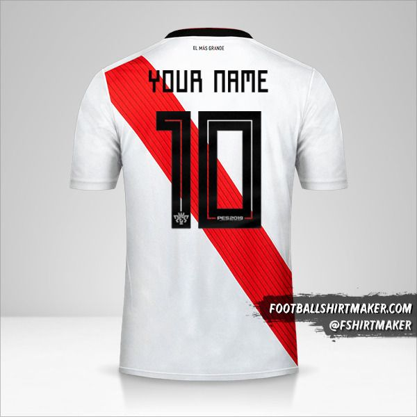 River Plate 2019 Copas shirt number 10 your name