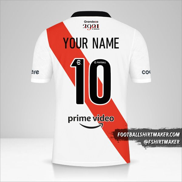 River Plate 2021/2022 shirt number 10 your name