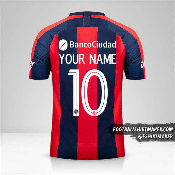 San Lorenzo Libertadores 2019 shirt number 10 your name