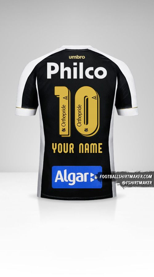 Santos FC 2018 II shirt number 10 your name