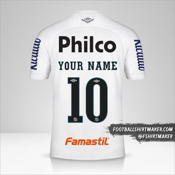 Santos FC Libertadores 2020 shirt number 10 your name