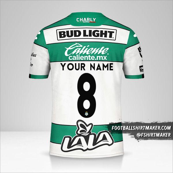 Santos Laguna 2019/20 shirt number 8 your name