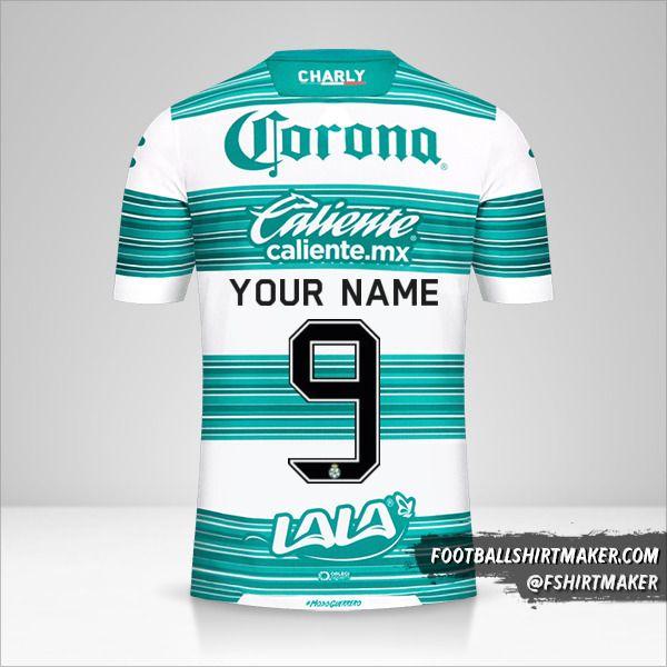 Santos Laguna 2020/21 shirt number 9 your name