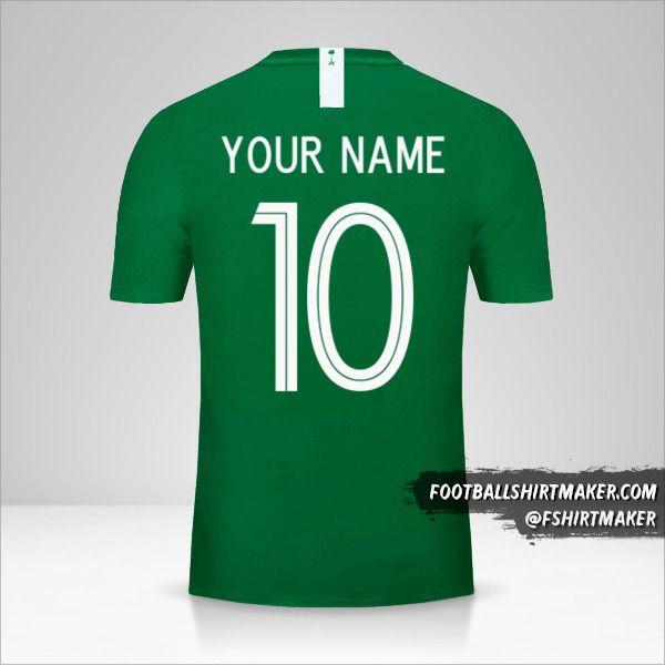 Saudi Arabia 2018 II shirt number 10 your name