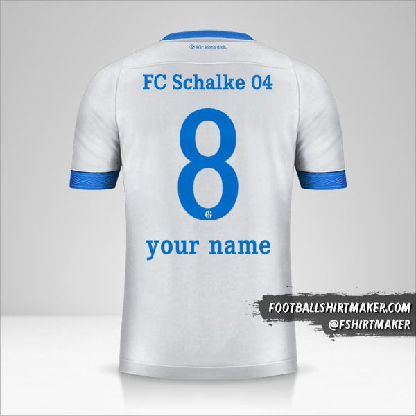 Schalke 04 2018/19 II shirt number 8 your name
