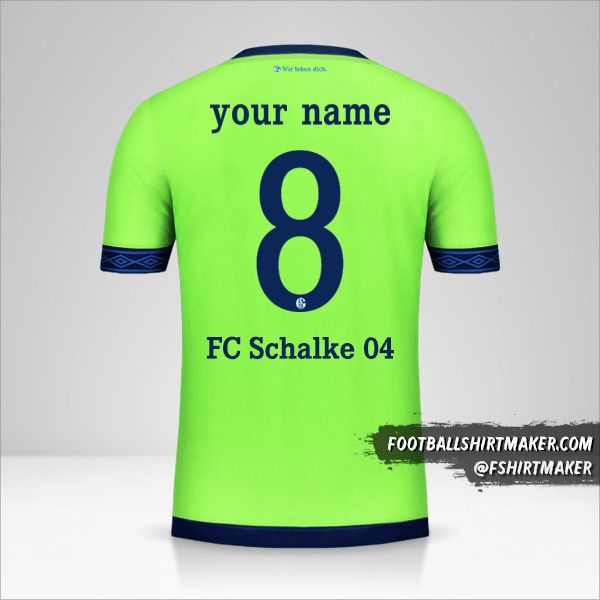 Schalke 04 2018/19 Cup III shirt number 8 your name
