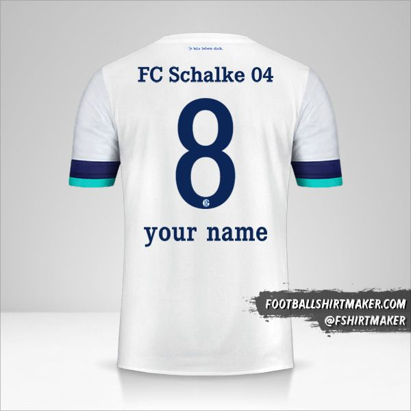Schalke 04 shirt 2019/20 II number 8 your name