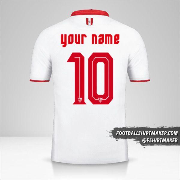 Sevilla FC 2016/17 shirt number 10 your name