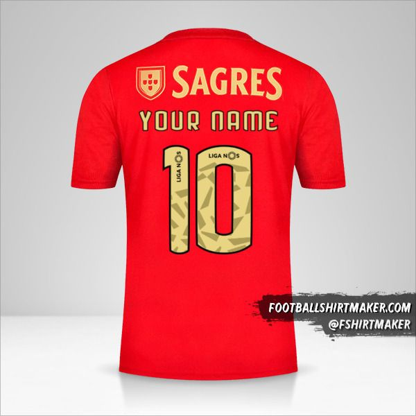 SL Benfica 2020/21 shirt number 10 your name