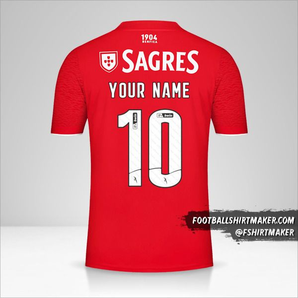 SL Benfica 2021/2022 shirt number 10 your name
