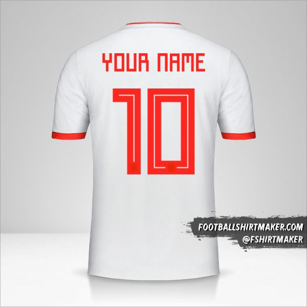Spain 2018 II shirt number 10 your name