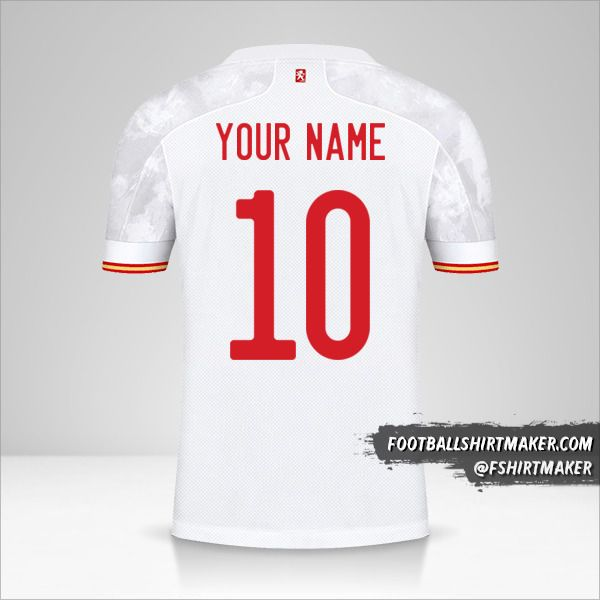 Spain 2021 II shirt number 10 your name