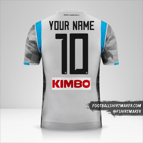 SSC Napoli 2018/19 III shirt number 10 your name