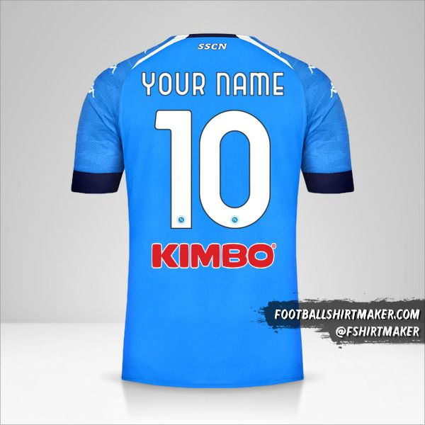 SSC Napoli 2020/21 shirt number 10 your name