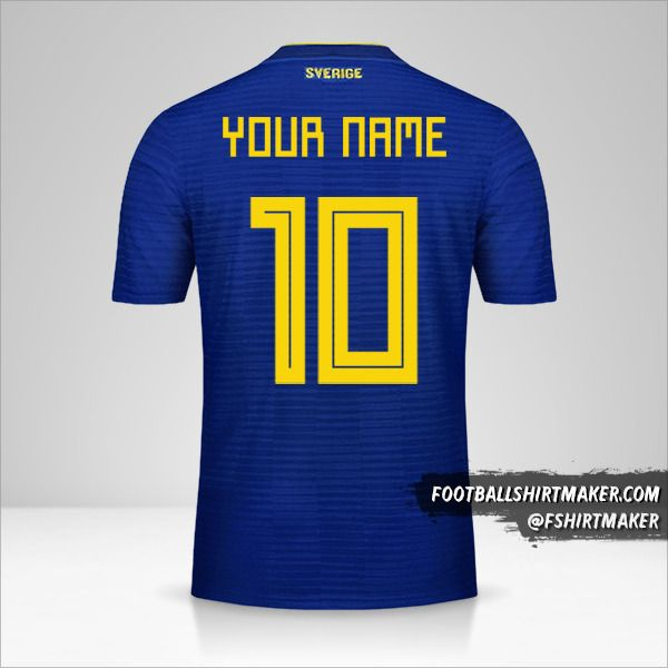 Sweden 2018 II shirt number 10 your name