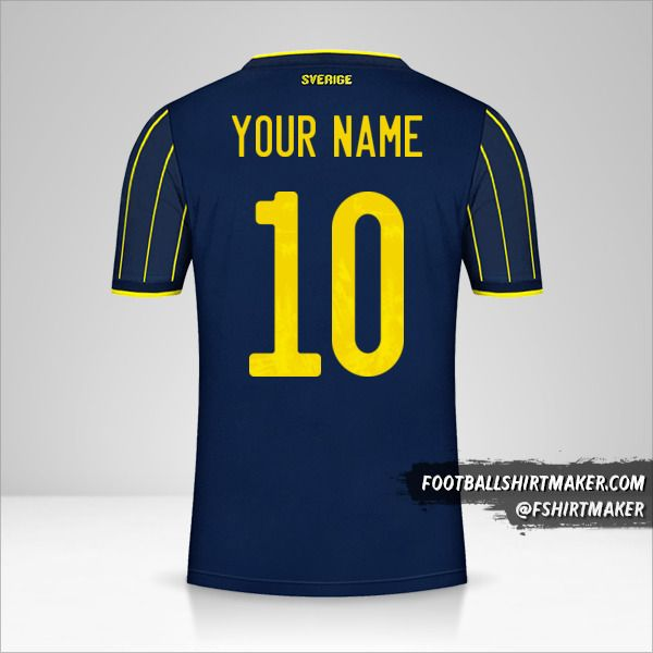 Sweden 2021 II shirt number 10 your name